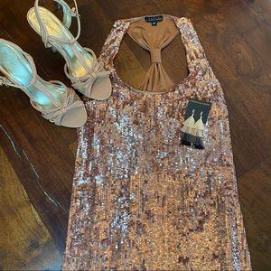 Maria Bianca Nero Pink Sequins Mini Dress